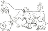 farm animals for coloring book