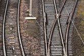 Railway line with switch
