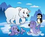 Winter scene with various animals 1