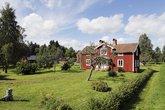 old cottages in swedish landscape scenery