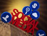 Social media communication,Internet concept