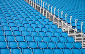 blue seats in a stadium