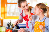 family cooking with fun healthy eating