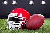 Red Sports Helmet