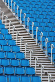 seating in stadium with stairs