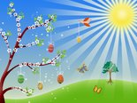 Easter nature spring illustration