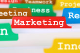 Marketing or advertising for company in the office register on business documents