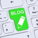 Internet concept blog writing online on computer