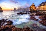magnificent coast scenery at sunrise