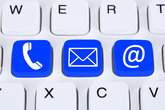 communication contact phone,letter or e-mail online