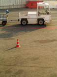 truck vehicle for transportation of luggage in the airport