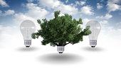 renewable energy concept,green energy symbol