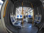 Bus interior in Turin
