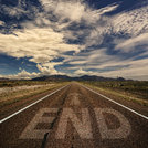 Conceptual Image of Road With the Word End