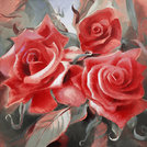roses painting concept