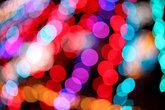 Colorful christmas bokeh light background