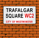 Trafalgar Place Name Sign