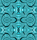 Abstract geometric futuristic background, seamless ornaments in turquoise green shades shimmering, ornate and extensive
