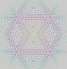 Abstract geometric seamless background. Modern regular diamond pattern in pastel shades. Elements in pink, violet, turquoise and light blue on light gray, centered and blurred.