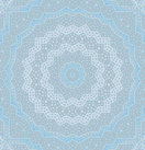 Abstract geometric seamless background. Delicate concentric circle ornament in light gray shades with elements in pastel blue, gauzy and dreamy.