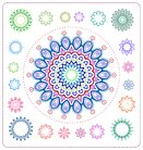 set of mandala illustration
