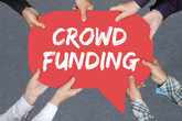 Group People Hold Crowd Funding Crowdfunding Online Money Collecting Internet Business Concept