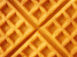 rustic golden plain waffle food background