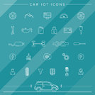 Internet Of Things For The Car Icons