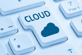 cloud computing cloud online internet computer keyboard blue