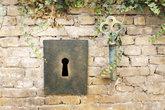 Vintage Giant Key And Keyhole