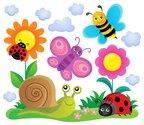 Spring animals and insect theme image 6
