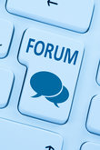 forum communication community internet blog media button press blue computer web