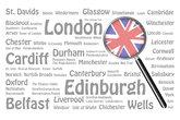 Travel destinations of Great Britain Concept