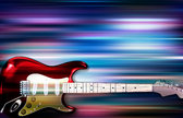 abstract blur music background with electric guitar
