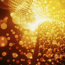 Abstract Red-Gold Background. Bright Light On Soft Bokeh