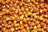 salted caramel popcorn food background