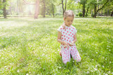 Child Nature Spring Happy