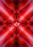Red kaleidoscope music speaker