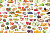 collection collage food healthy nutrition fruits and vegetables fruit background foods free perder
