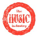 The Music Industry Red Ink Rubber Stamp