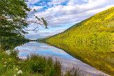 lake nature tranquil wilderness  lake reflection scenery