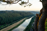 Landscapes of Saxon Switzerland - is the German part of Elbe Sandstone Mountains. The valley of the river Elbe.