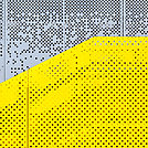 Grey and yellow perforated industrial metal background