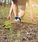 concept of a healthy lifestyle and running in the fresh air