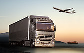 Transport by truck, plane and ship