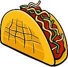 Mexican taco food object cartoon illustration