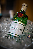 Illustrative editorial image of a Tanquerai gin bottle