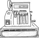 vector - cash register