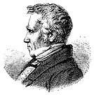 Portrait of Christoph Friedrich Cotta (1764–1832) - a German publisher, industrial pioneer and politician. Illustration of the 19th century. White background.